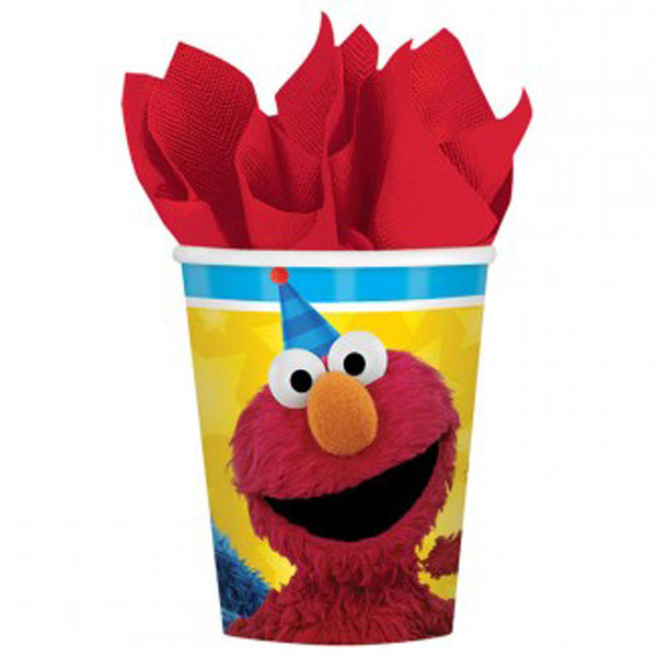 Sesame Street Cups Elmo & Cookie Monster Paper 266ml - Pack of 8