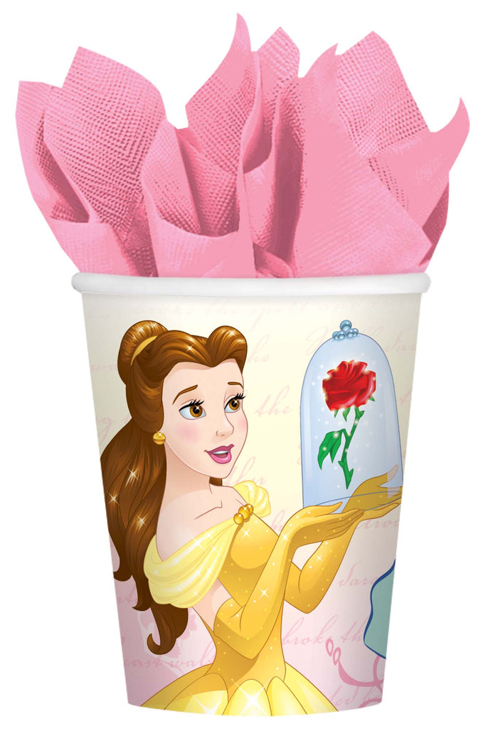 Beauty & The Beast Cups Paper 266ml  - Pack of 8