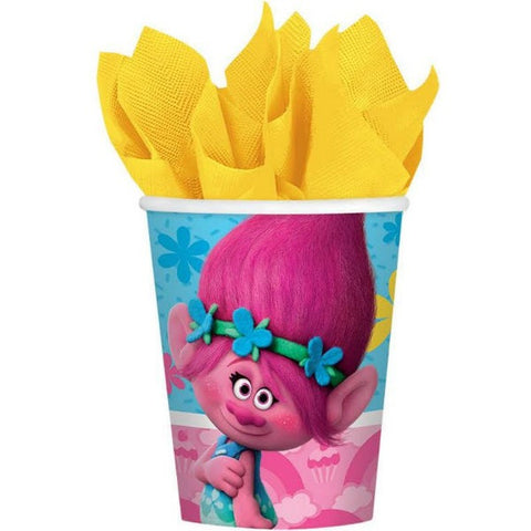 Trolls Paper Cups 266ml    - Pack of 8