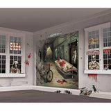 Asylum Wall Scene Setter Decorating Kit Plastic Wall Decoration -2 x 82cm x 165cm & 30 x Assorted Cardboard Cutouts - Each