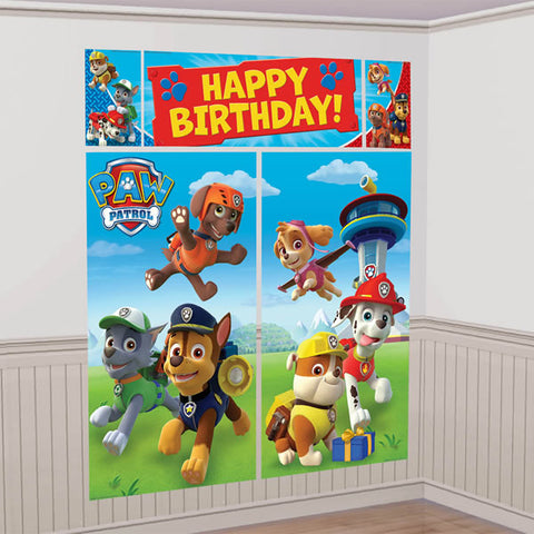 Paw Patrol Happy Birthday Scene Setter