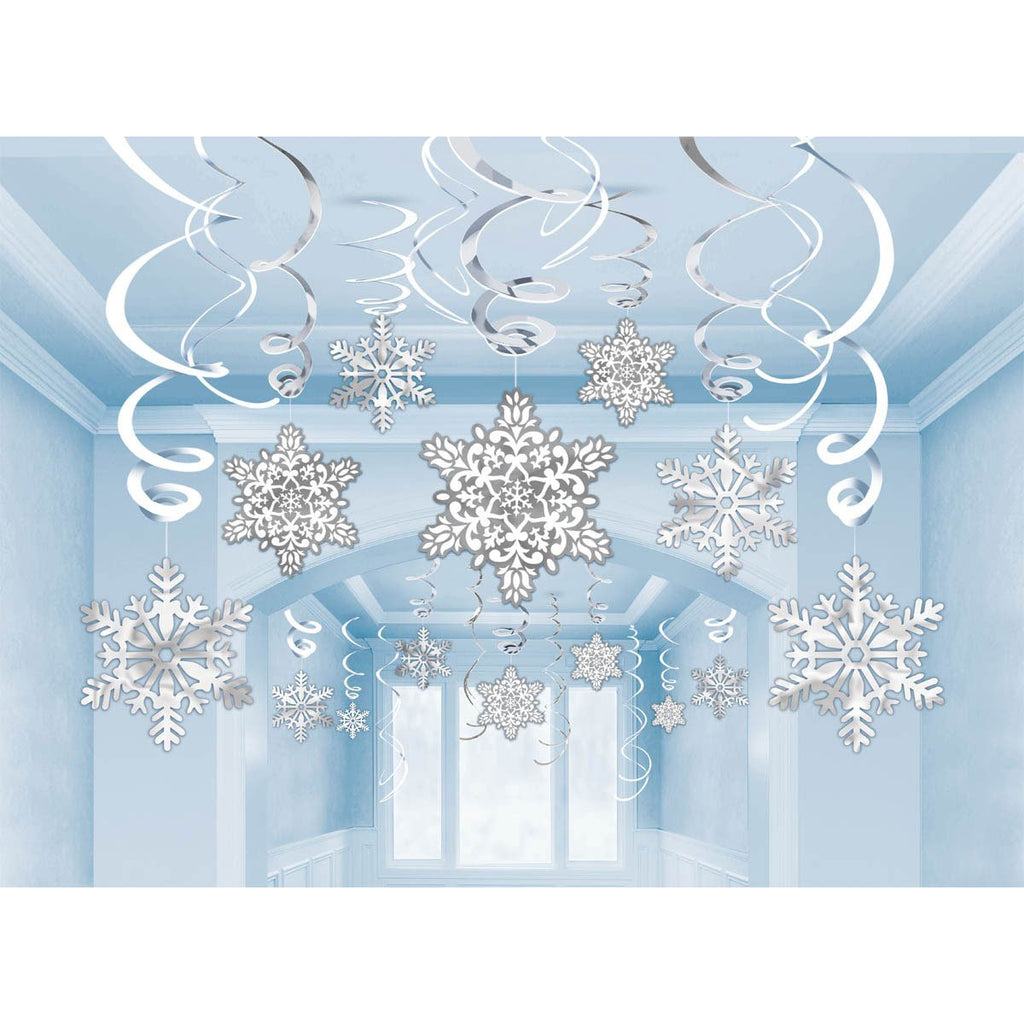 Hanging Decoration Snowflake Swirls
