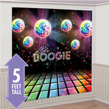 Disco Fever Scene Setter Wall Decorating Kit 82cm x 165cm Plastic - Each