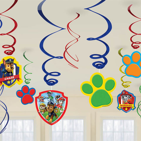 Paw Patrol Swirls Hanging Decoration
