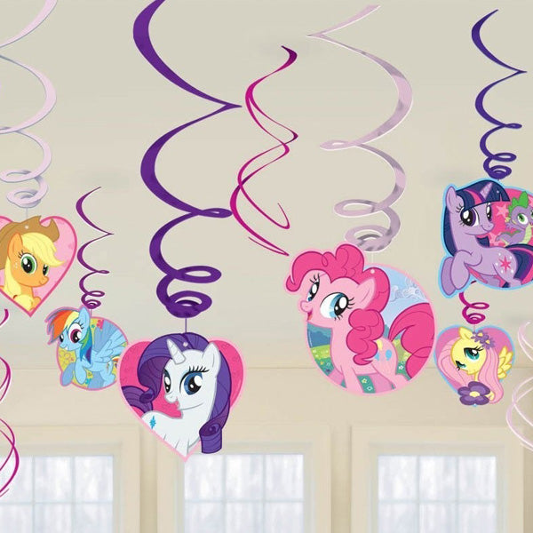 My Little Pony Hanging Swirls Value Pack (Swirls with Cutouts are 60cm Long, Swirls only are 45cm Long) - Pack of 12