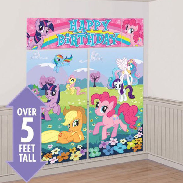 My Little Pony Friendship Scene Setter Kit (2 x 82.5cm x 149.8cm, 1 x 113cm x 40.6cm, 2 x 26cm x 40.6cm) Combine for one giant decoration - Each