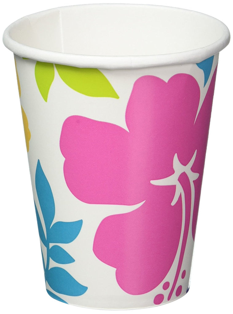 Hibiscus Paper Cups 266ml  - Pack of 8