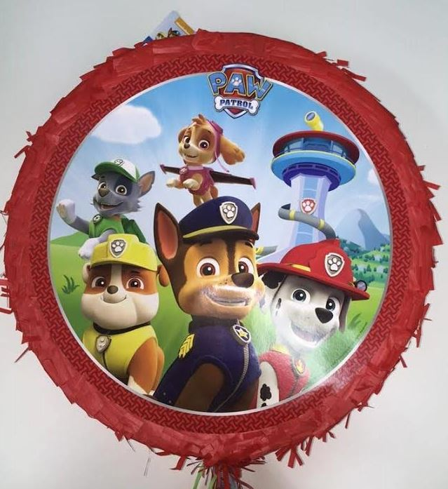 Paw Patrol Pinata Drum Pull Type (Not suitable for Express Post due to size of product) - Each