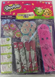 Shopkins Mega Mix Favors Value Pack 8 of each - Activity Sheets, Keychains, Mini Notepads, Laser Tops, Trace Rulers & ID Cards - Each
