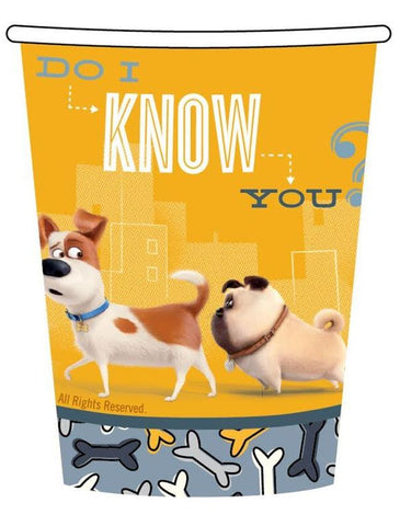 The Secret Life of Pets Cups Paper 266ml  - Pack of 8