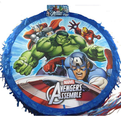Avengers Pinata Drum Type Pull String (Not suitable for Express Post due to size of product) - Each