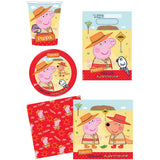 Peppa Pig Outback 40 Piece Party Pack Contains 8 x 23cm Plates, 8 x Cups, 8 x Loot Bags & 16 x Lunch Napkins - Each