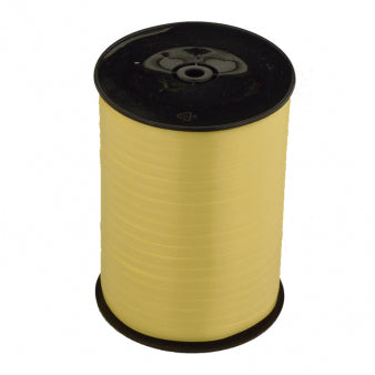 Ribbon Curling Lemon Yellow Roll 500m  - Roll