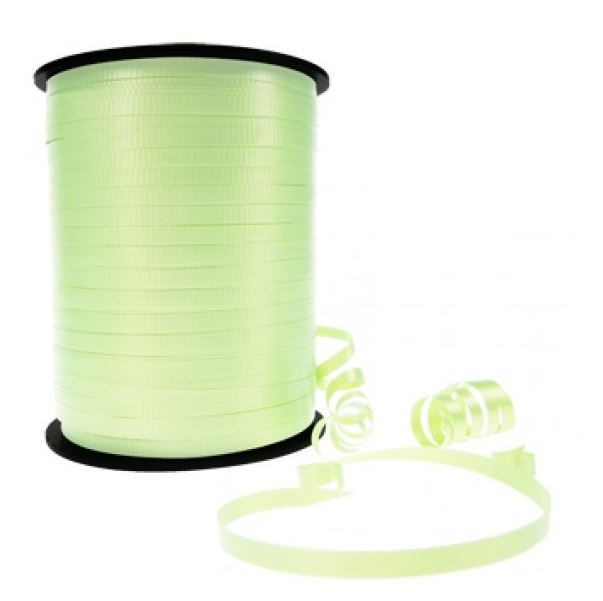 Ribbon Curling Crimped Light Green 5mm x 457mm  - Roll