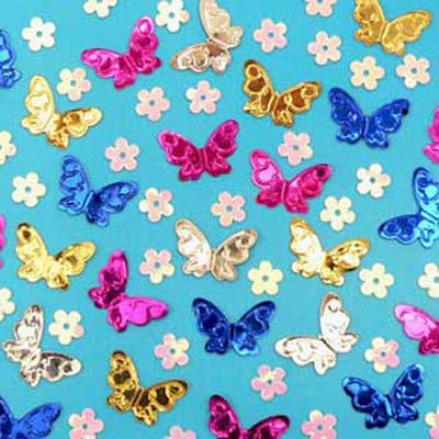 Scatterfetti Butterfly Flower Assorted