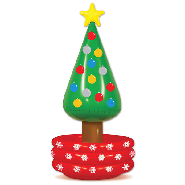 Inflatable Christmas Tree Cooler Plastic 1.42m x 66cm - Each