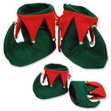 Elf Boots / Shoes Felt with Bells that Jingle Fits Men & Womens Feet - Each