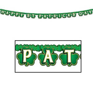 Banner Streamer Happy St Patrick's Day