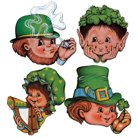 Cutouts St Patrick's Day Faces,