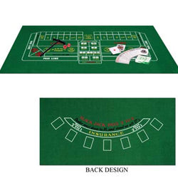 Blackjack & Craps Set Felt is 90cmx44cm
