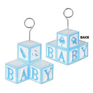 Photo Holder Balloon Weight Blue Baby