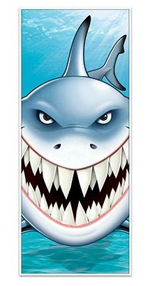 Door Cover Shark 76cm x 1.83m Plastic - Indoor or Outdoor Use - Each
