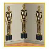 Backdrop Awards Night Male Statuettes ( Statues) (1.2m High x 9.1m Wide) - Each