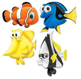 Under the Sea Fish Cutouts Cardboard Printed both Sides - Assorted Sizes 34cm - 43cm - Pack of 4