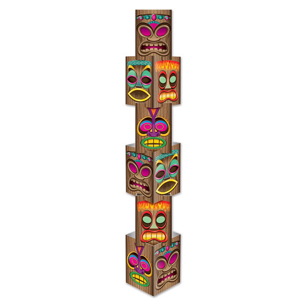 Tiki Column Prop - It's Huge!! 6 Individual Pieces Create a 30cm x 171cm Cardboard Prop (Some Assembly Required) - Each