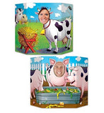 Photo Prop Barnyard Farm Animal Friends 94cm x 64cm  Cardboard (Not suitable for Express Post due to size of product) - Each