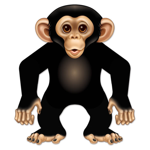 Monkey Jointed Cutout 56cm Cardboard - Each