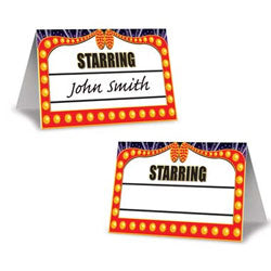Place Cards Awards Night Pack of 8 awards night place cards. - Pack of 8