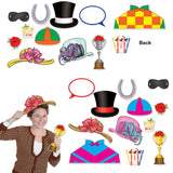 Photo Booth Props Horse Racing Theme Assorted Sizes - Cardboard - Pack of 12