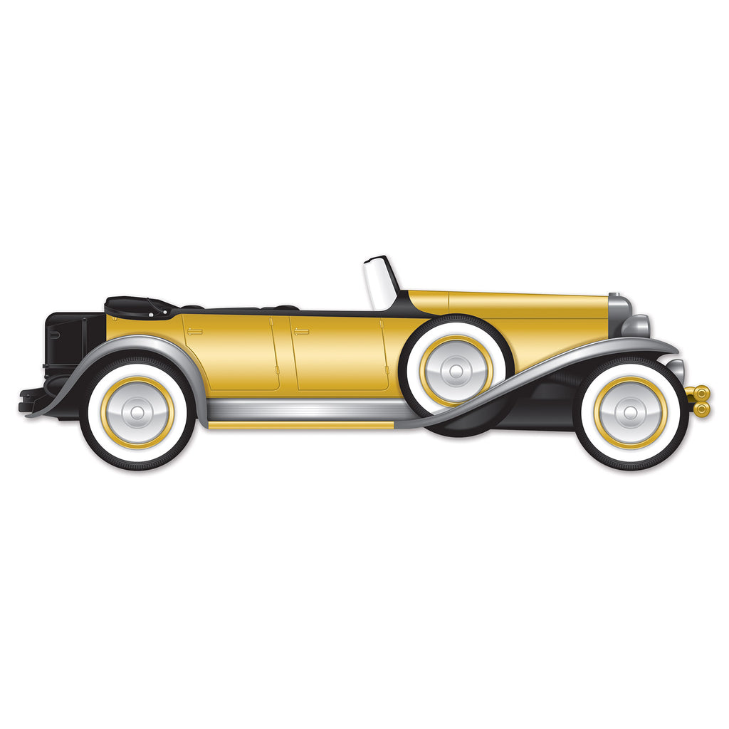 Cutout Great 20's Roadster Car Prop Jointed 30cm x 1.3m Cardboard - Printed both Sides - Each