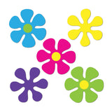 Cutouts Retro Mini Flowers Assorted Colours 11cm Cardboard Printed Both Sides - Pack of 10