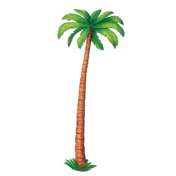 Jointed Palm Tree Cutout 1.8m Cardboard ( Not suitable for Express Post due to size) - Each