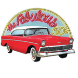 Cutout The Fabulous 50's  & Classic Car Design 60cm x 42cm Cardboard Printed Both Sides - Each