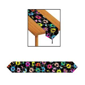 Table Runner Rock and Roll (28cm wide x x 1.82m Long) Printed - Each