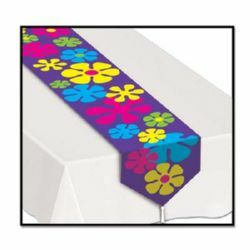 Table Runner Printed Retro Flowers