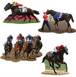 Cutouts Horse Racing Assorted Designs