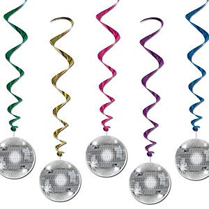 Hanging Decoration Whirls Disco Ball