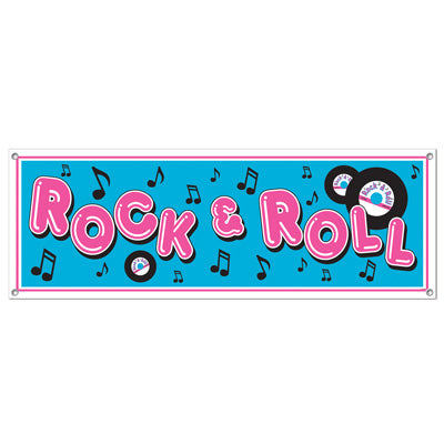 Banner Rock & Roll Sign