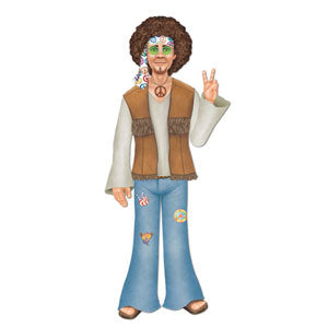 Cutout Jointed Male Hippie