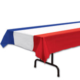 Tablecover Red, White & Blue 137cm x 274cm Plastic - Each