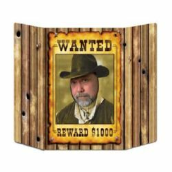 Photo Prop Wanted Poster