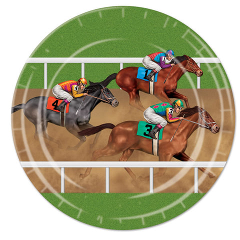 Horse Racing Dinner Plates Paper 23cm - Pack of 8