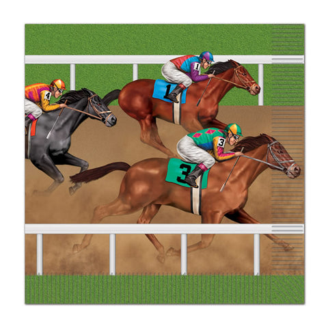 Horse Racing Luncheon Napkins 33cm x 33cm 2 Ply - Pack of 16