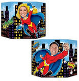 Photo Prop Super Hero Theme 94cm x 64cm  Cardboard (Not suitable for Express Post due to size of product) - Each