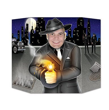 Photo Prop Gangster Design 94cm x 64cm  Cardboard (Not suitable for Express Post due to size of product) - Each