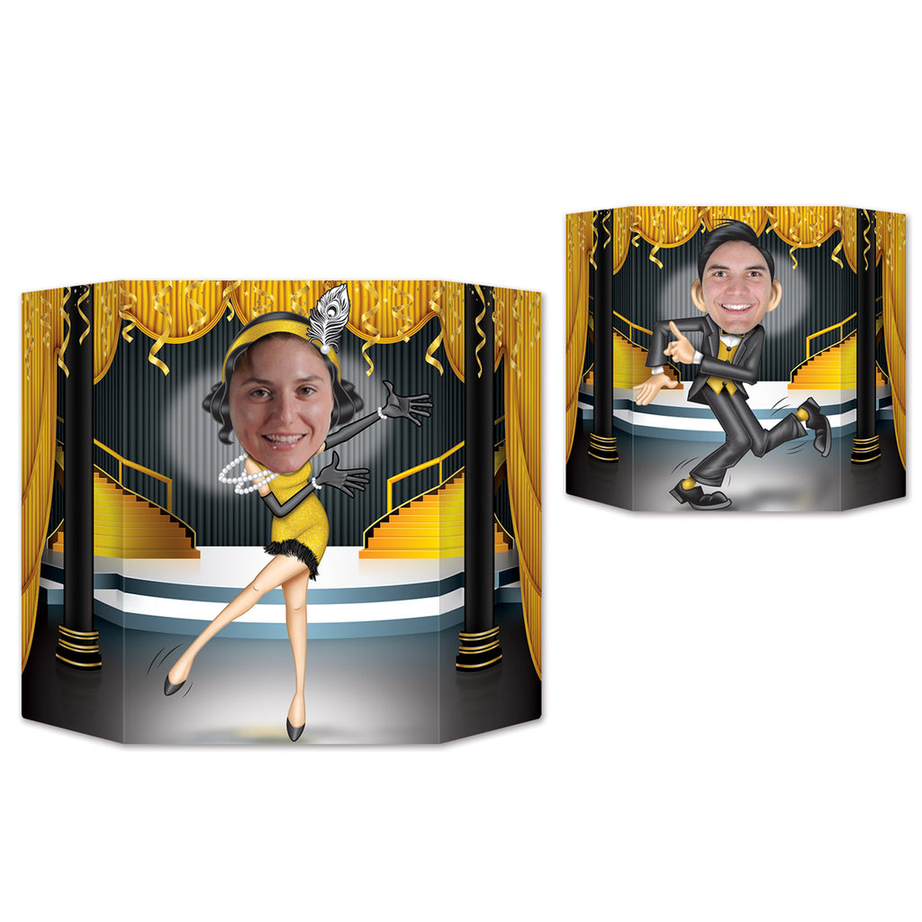 Photo Prop Great 20's Dancers Printed Both Sides 94cm x 64cm Cardboard (Packet Size 43cm x 37cm) - Each